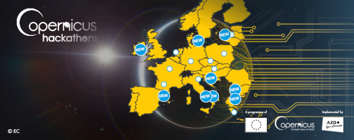 New locations of the Copernicus Hackathons