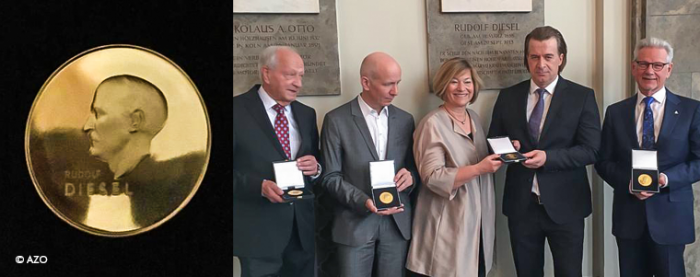 AZO awarded for 'Best Innovation Support' by Germany's oldest innovation prize 'Dieselmedaille'