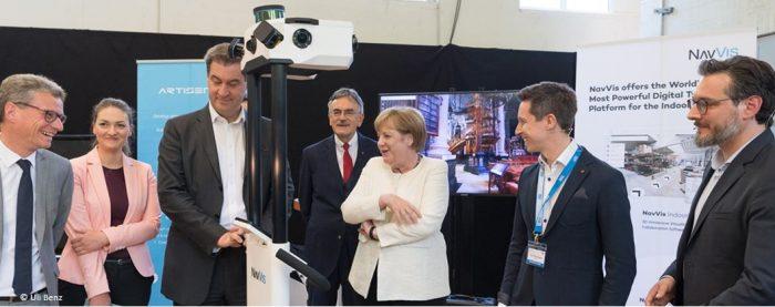 ESA BIC Alumni present AI solutions to Angela Merkel